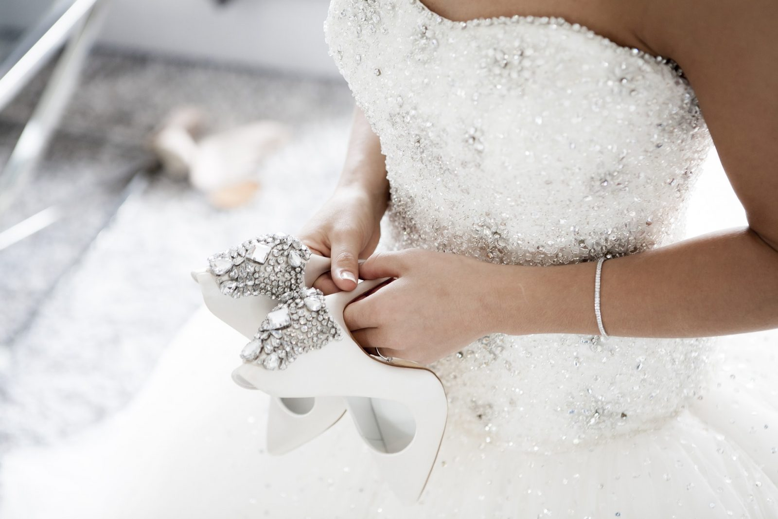 suknią ślubną