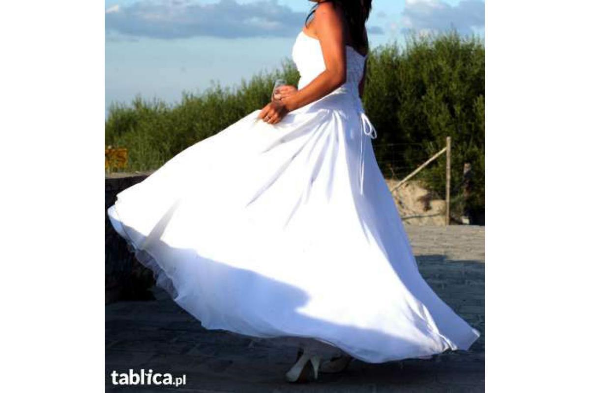Biała ,niezwykle wygodna suknia ślubna