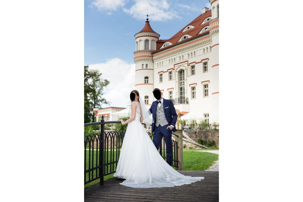 Suknia ślubna TAINA, rozmiar 38/40, wzrost 175cm +/- 2cm