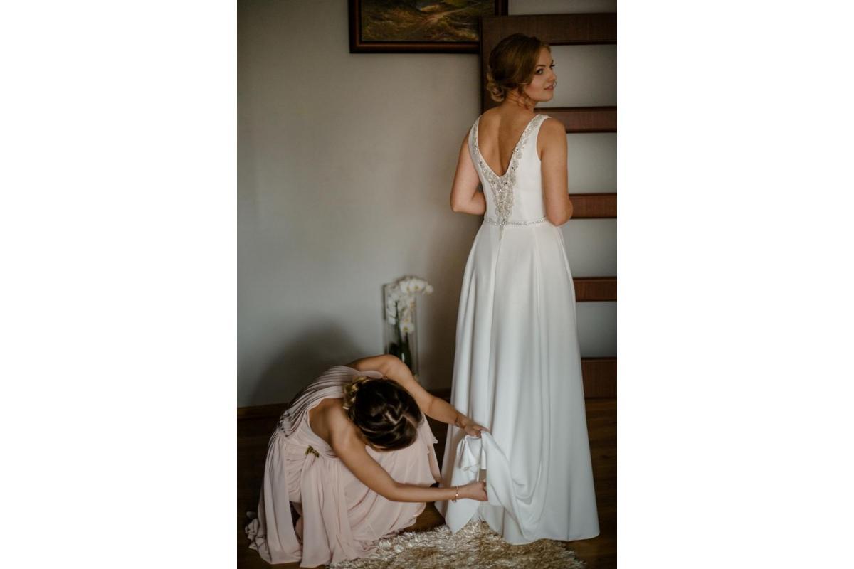 Suknia ślubna Wyjątkową Model : Ibis , ivory