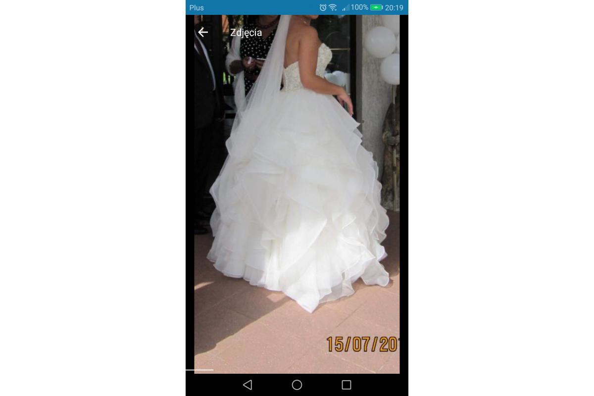 Suknia Justin Aleksander model 8845 ivory USA10 38/40