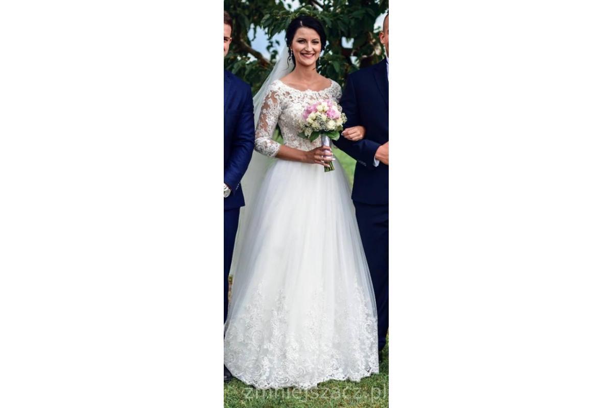 Suknia ślubna + welon. Patrycja Pardyka