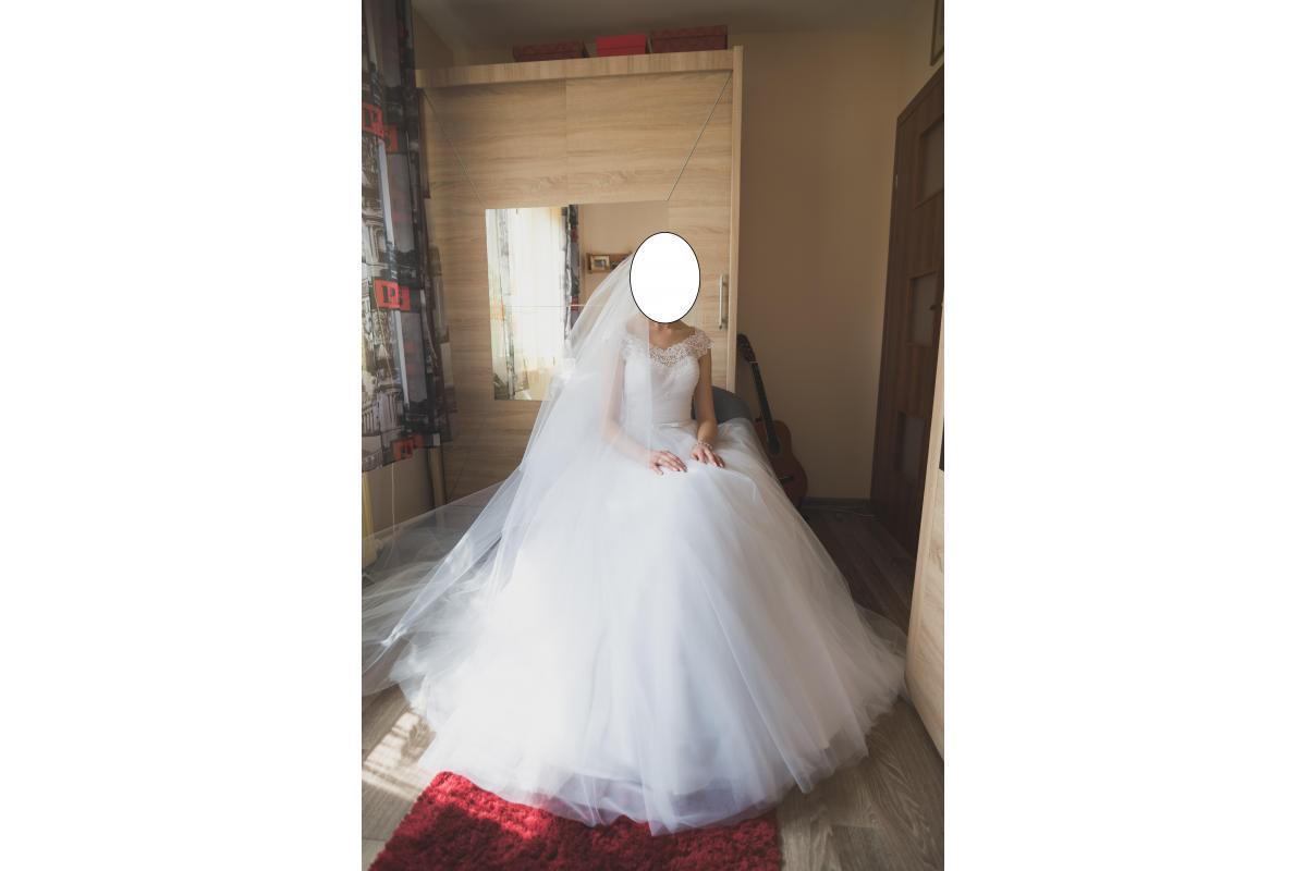 Piękna suknia ślubna - princessa - SPRZEDAM