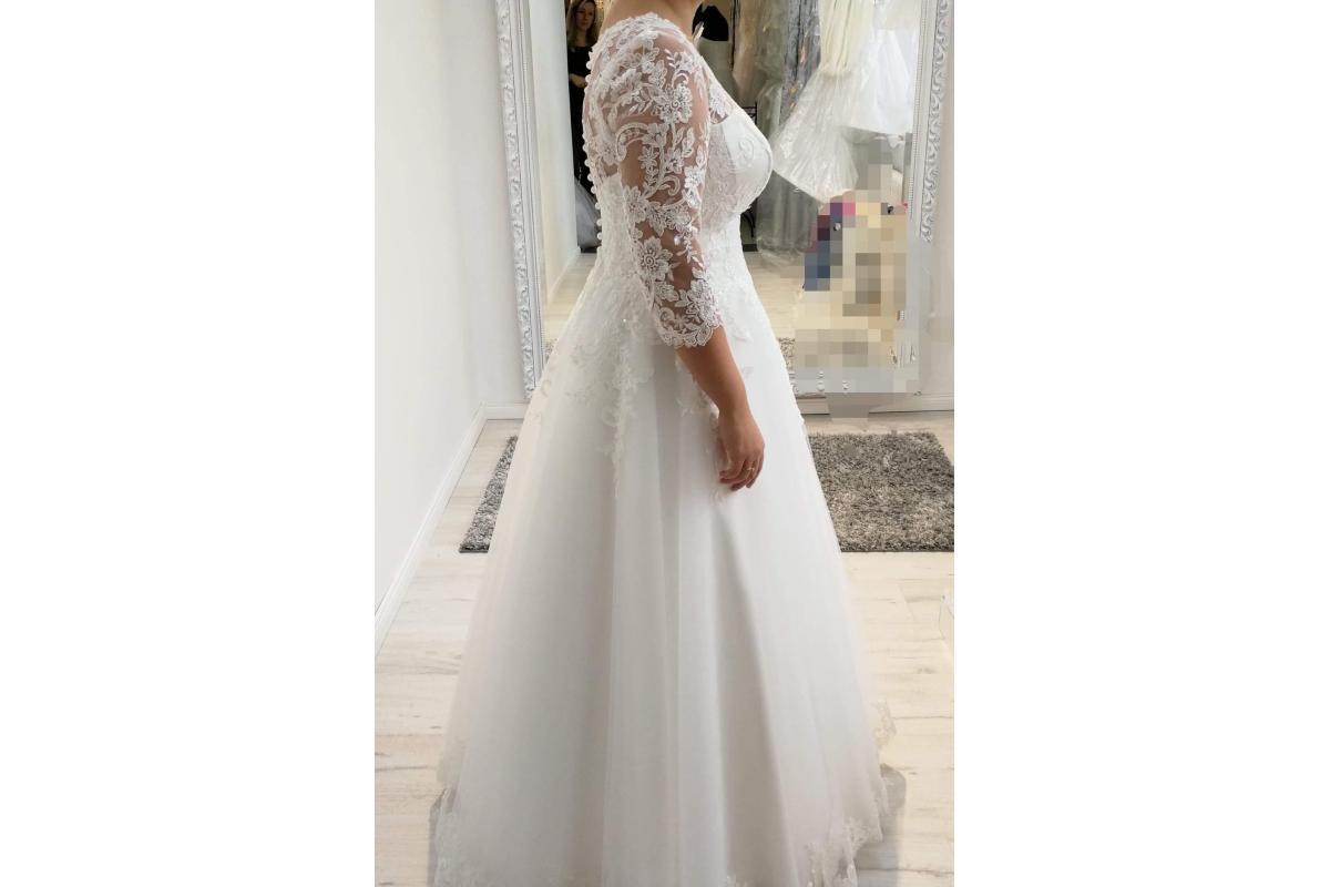 Suknia ślubna ivory - śmietana POLECAM