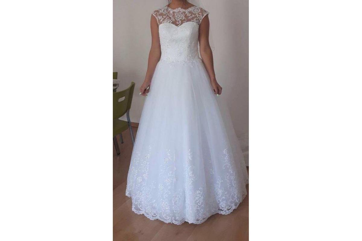Nowa nieużywana suknia ślubna plus welon- wszystko z metką