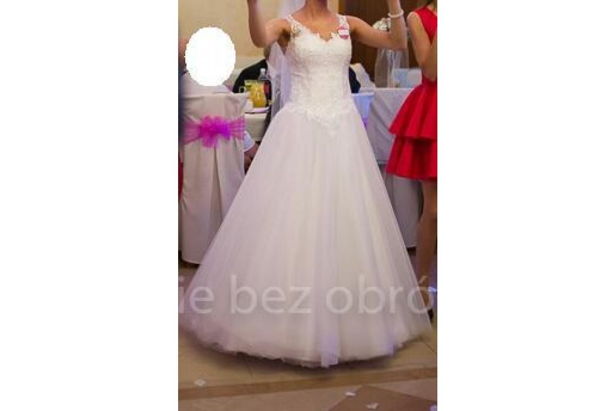 Piękna suknia ślubna Ana-Kreacja Żannet roz.34/36