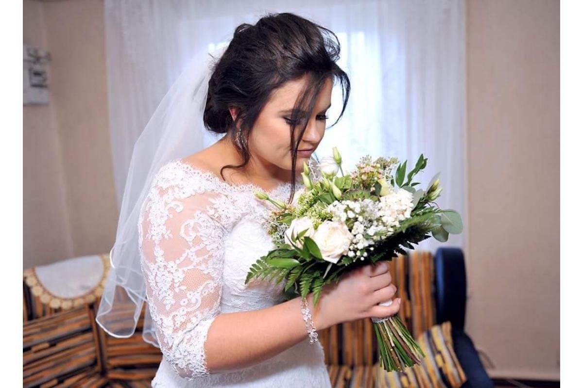 Suknia ślubna róż.42-44