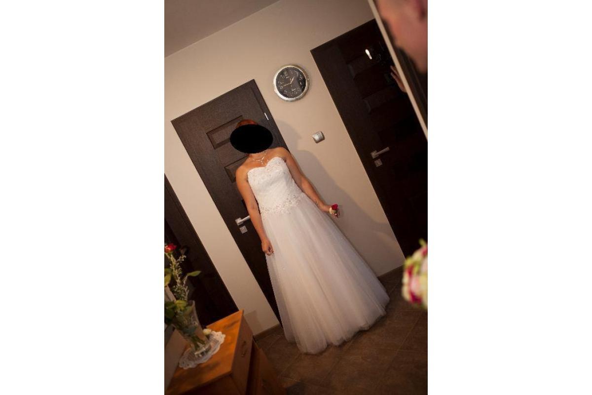 Suknia ślubna princesska śnieżniobiała