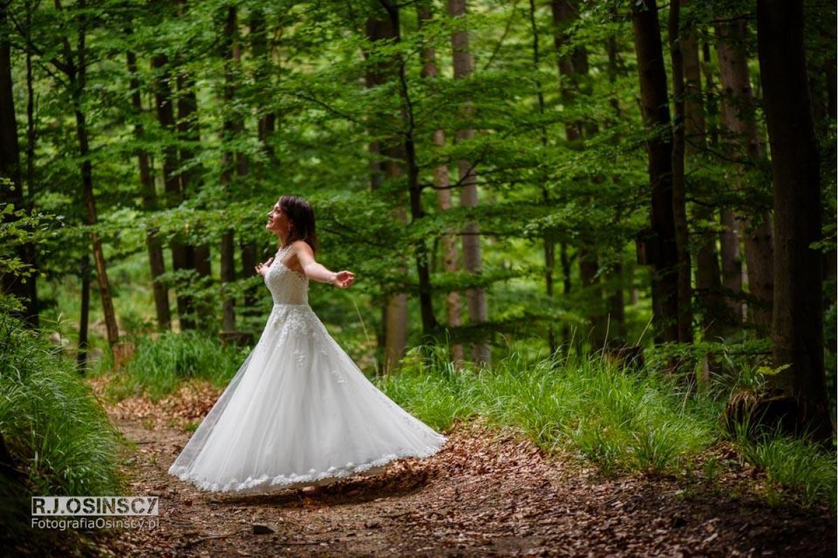 Piękna suknia ślubna z salonu MADONNA XS/S, 160-162cm tegoroczna