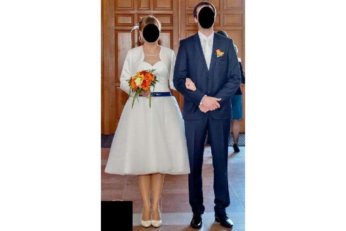 suknia do ślubu - krótka