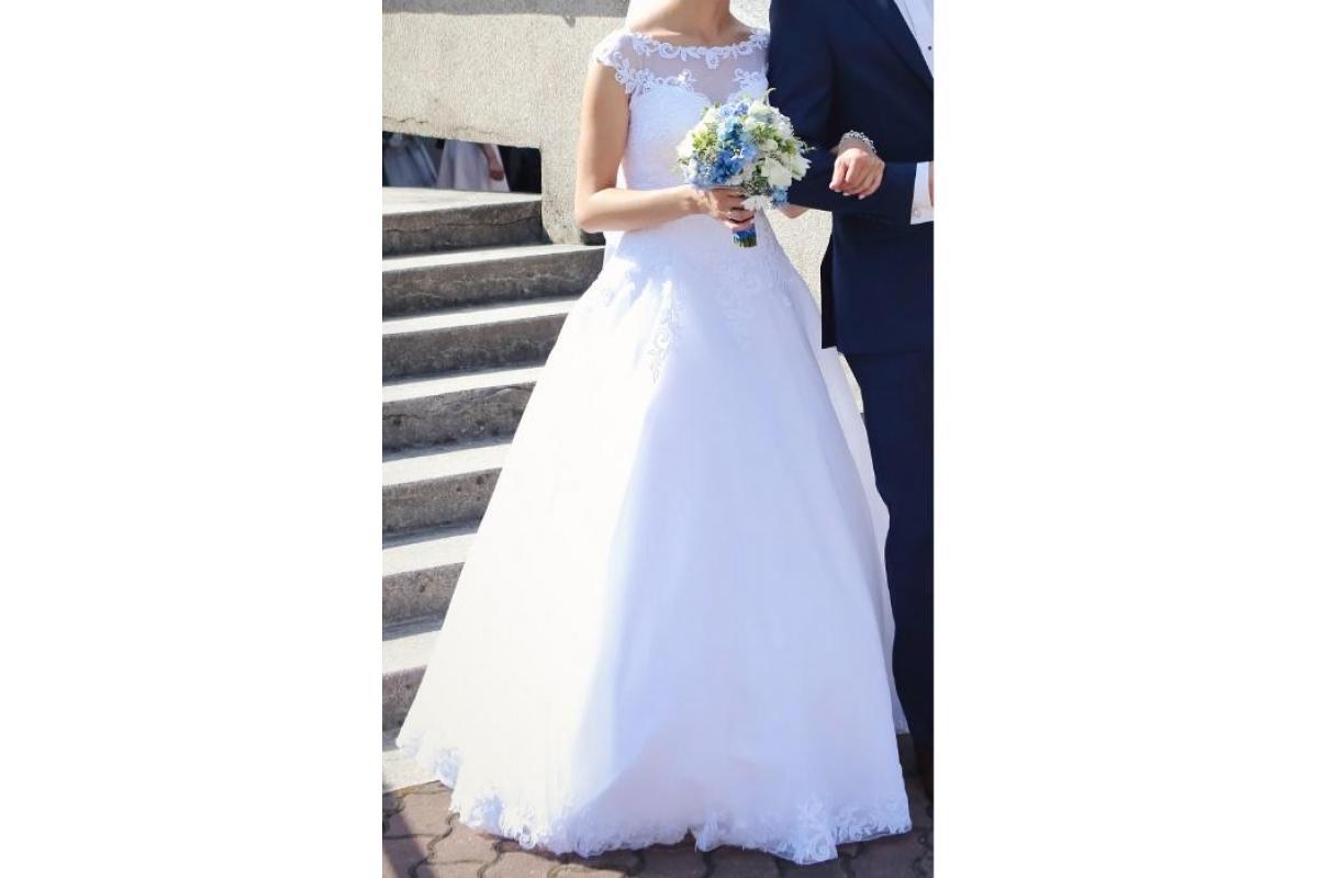 Sprzedam piękną BIAŁĄ suknie ślubną