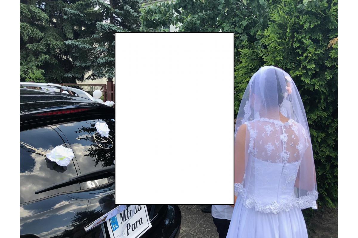 sprzedam suknie ślubna ,welon , halkę z czerwca 2018 roku