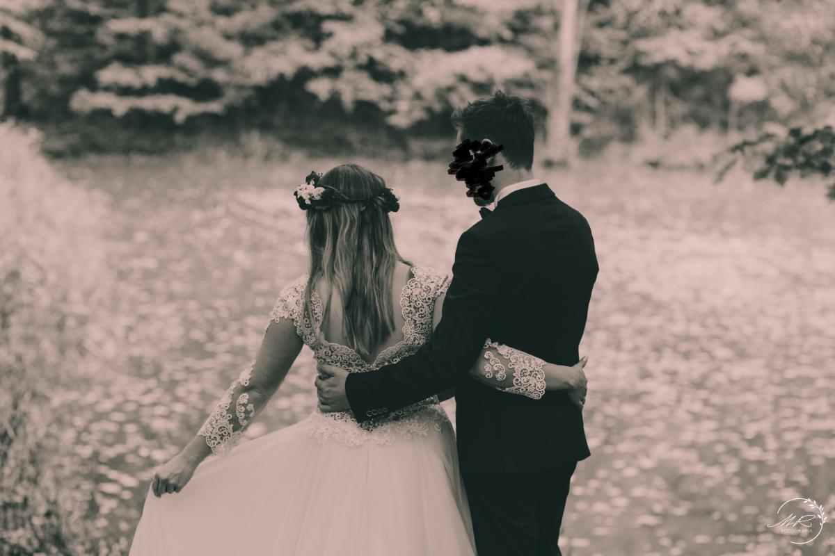 Suknia ślubna koronka gipiura tiul ecru rozmiar 38-40