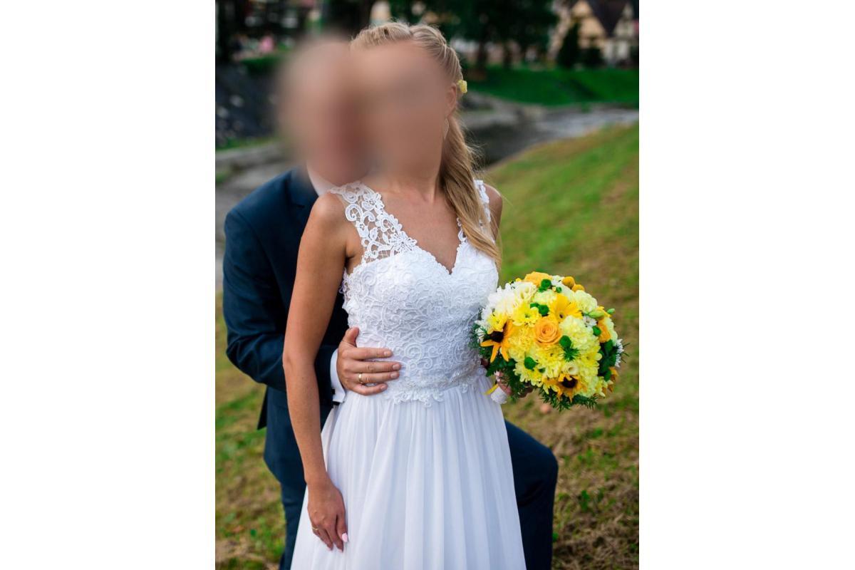 Suknia Ślubna + Gratis ozdoba do włosów !