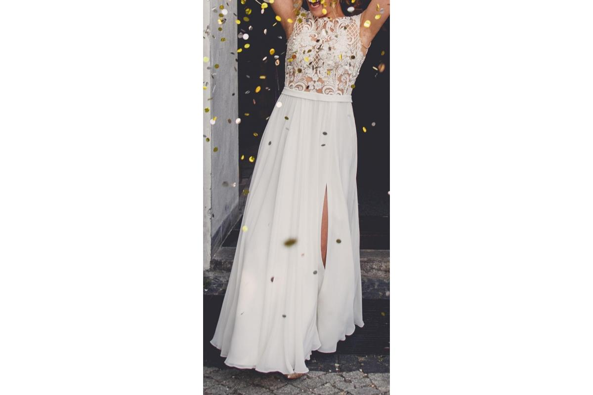 suknia od Julia Rosa 2018, r.34/36, 158+7cm obcas