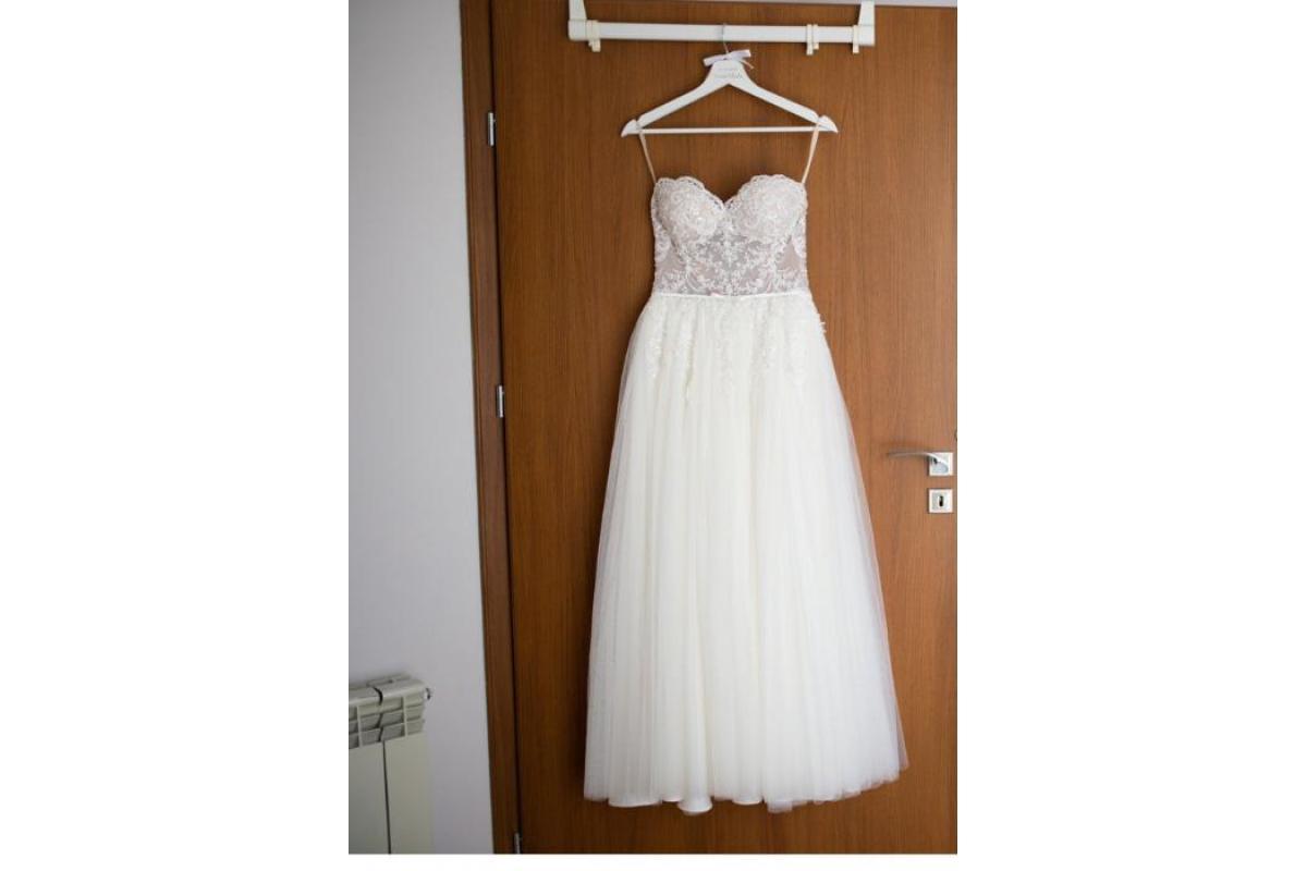 Suknia ślubna Kristin roz. 34 158cm+8cm obcas