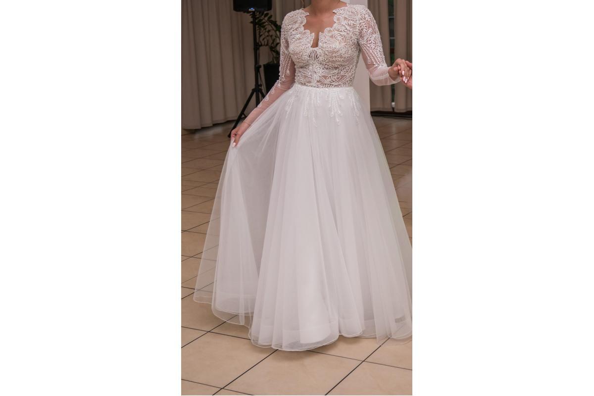 Suknia Ślubna projekt Patrycja Pardyka 38/40 + WELON 150cm