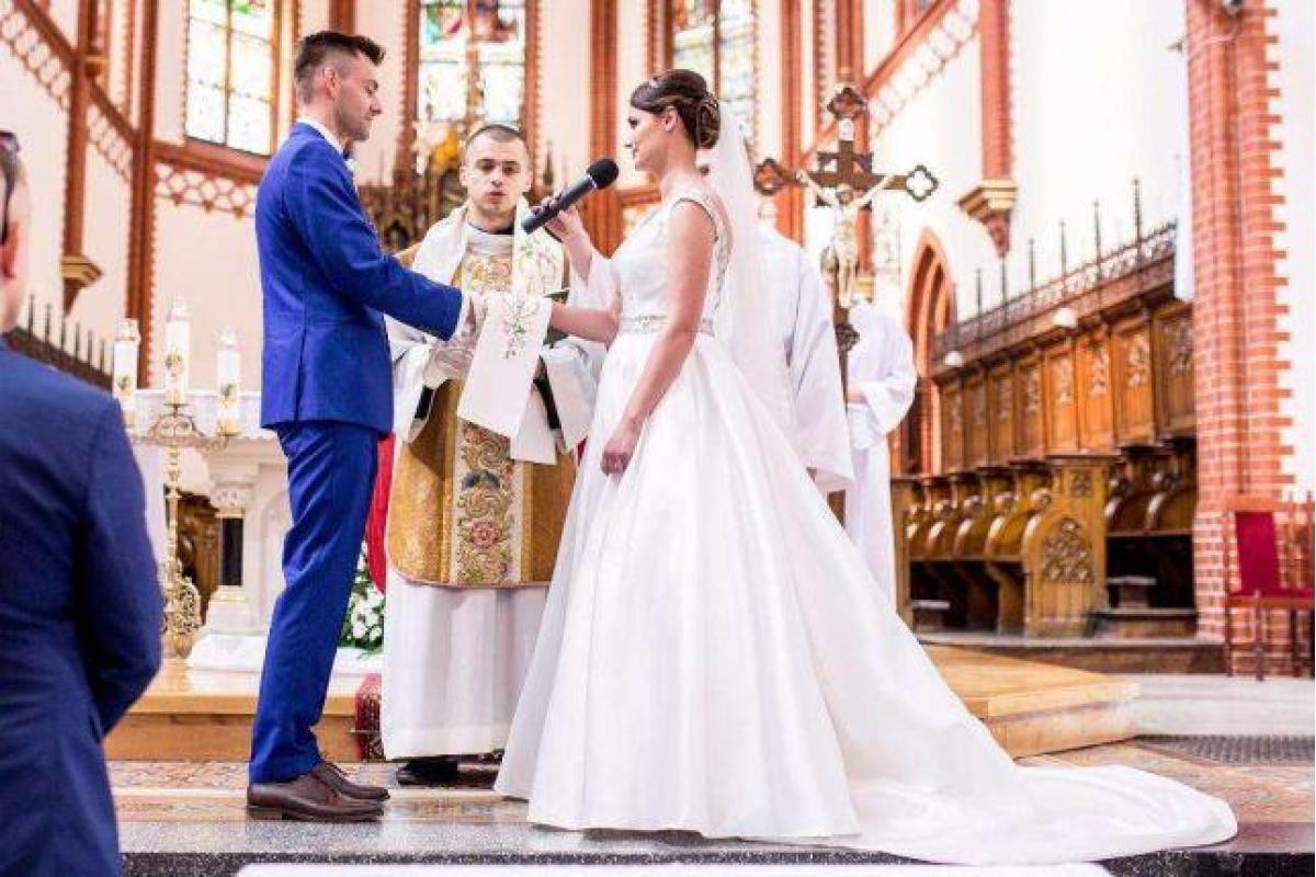 Suknia ślubna Amy Love Catie rozmiar 38 White-Code 2017
