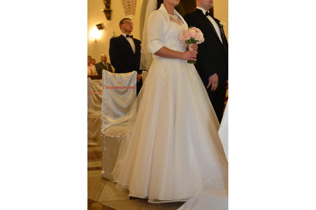 Suknia Ślubna PORTIA + gratisy roz 40. KOLOR BIEL