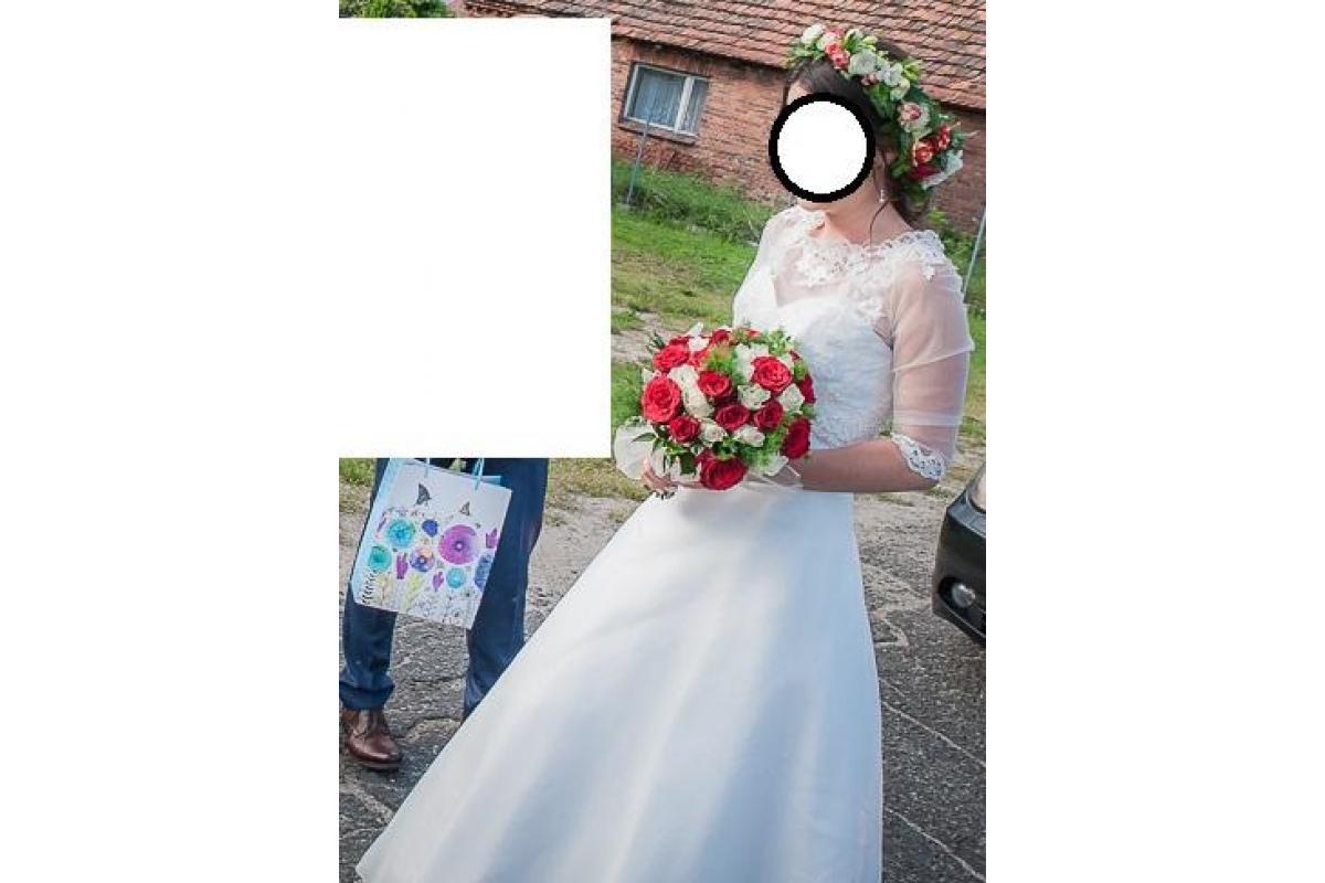 Delikatna suknia ślubna St. Patrick rozmiar 38 - do negocjacji