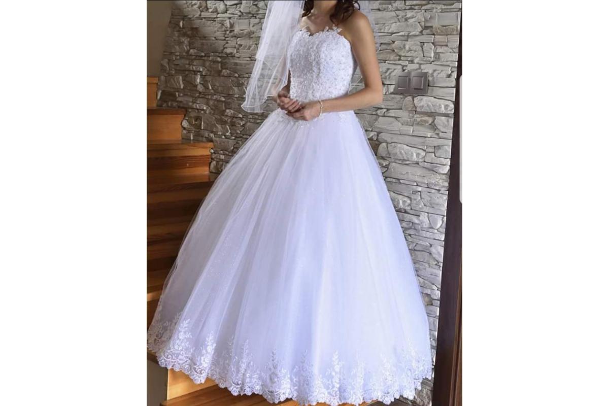 Suknia ślubna rozm. 32-34