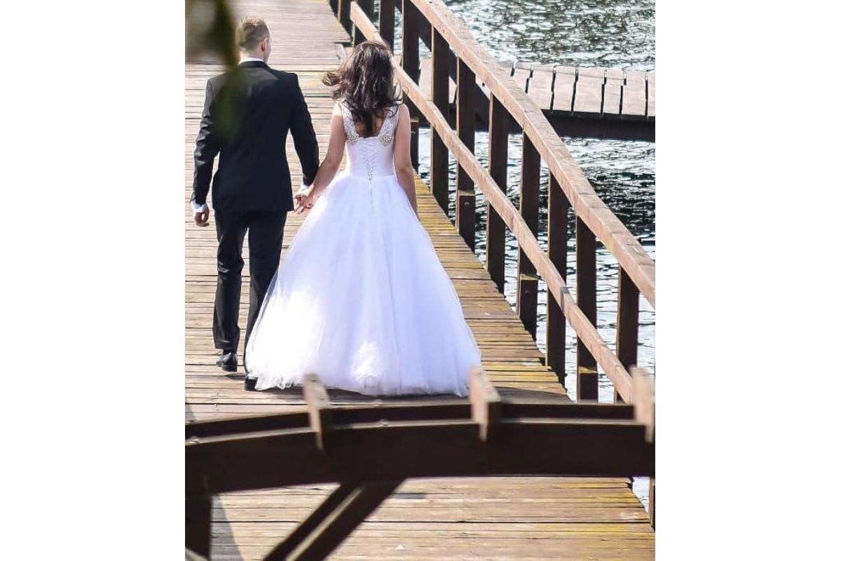 Suknia Ślubna ŚNIEŻNOBIAŁA PRINCESSKA