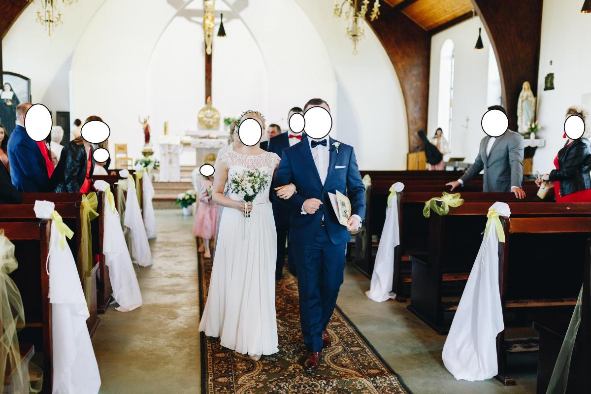 Śliczna romantyczna suknia ślubna