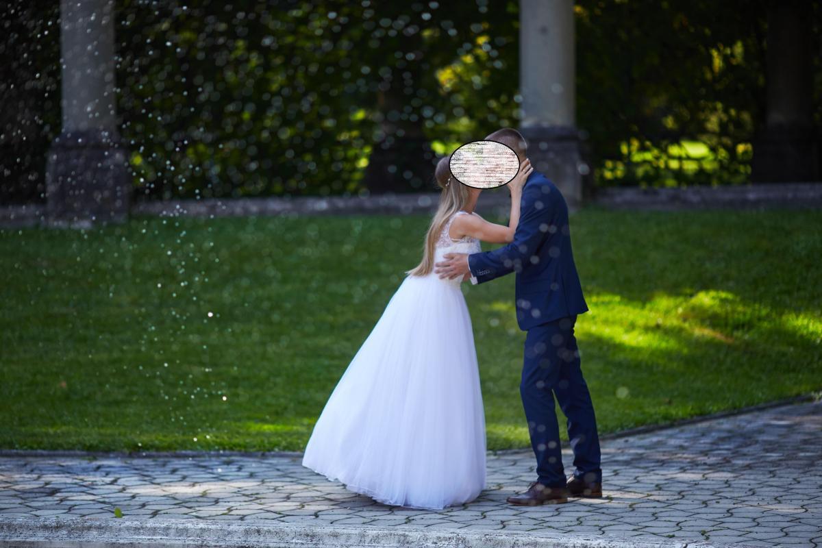 Suknia ślubna Justin Alexander 8886 rozmiar 34-36 biała white