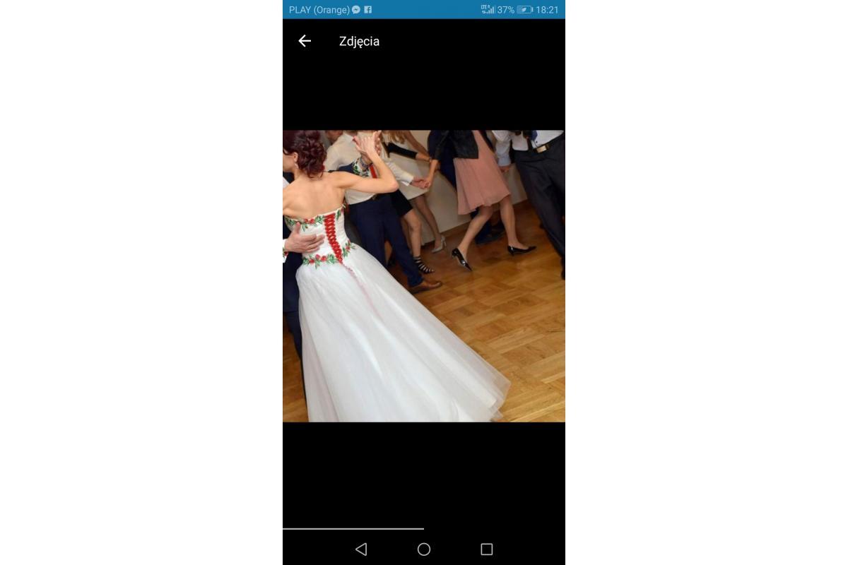 Sprzedam góralską suknię ślubną