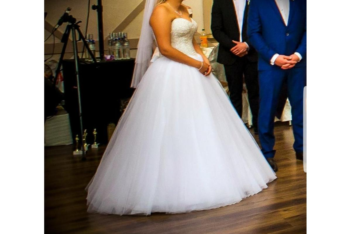 Suknia księżniczka princesska gorset bogato zdobiony Maxima