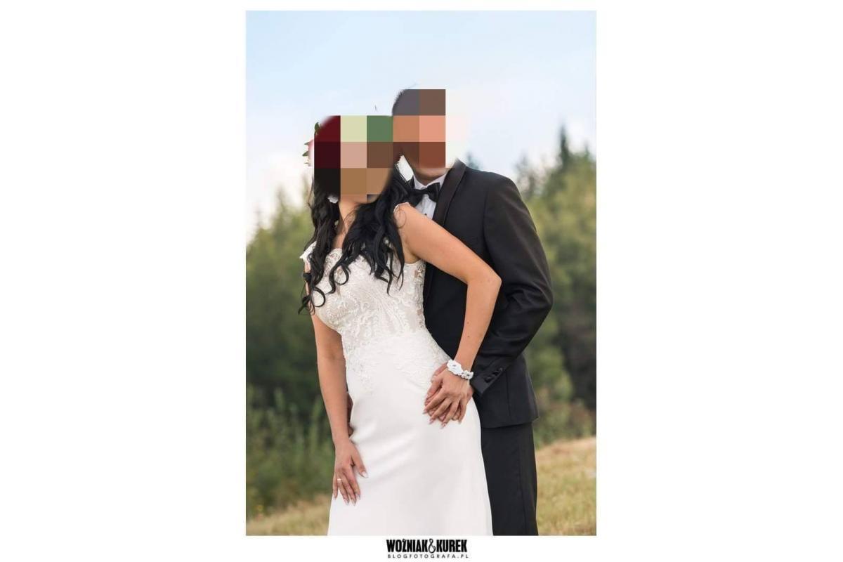 Suknia ślubna syrena, rybka