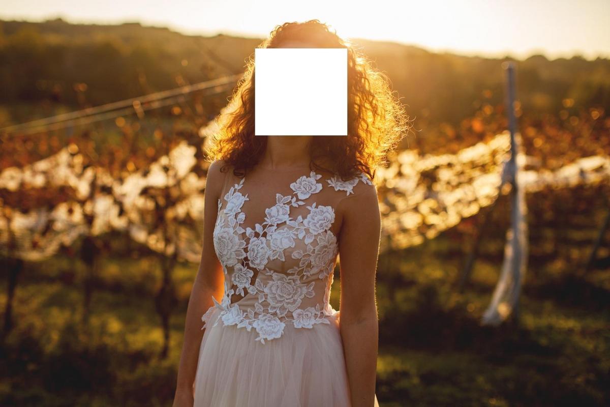 Suknia ślubna ASIL - rozm. 34/36 szyta na 166 cm + 10 cm obcas