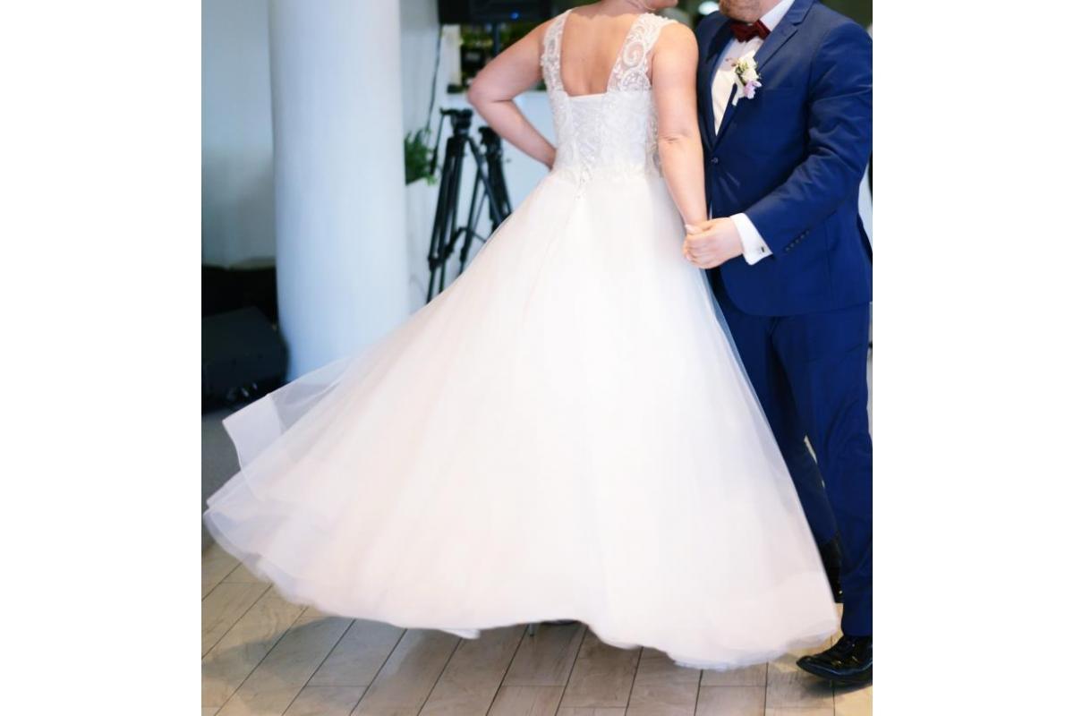 Suknia ślubna Amorina od Victorii Soprano, kolor Ivory, rozmiar 38-42
