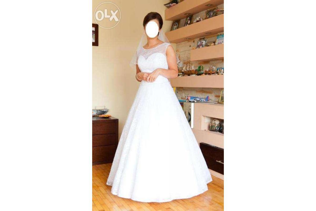 Suknia ślubna Agnes, GRATIS!!! welon i bolerko