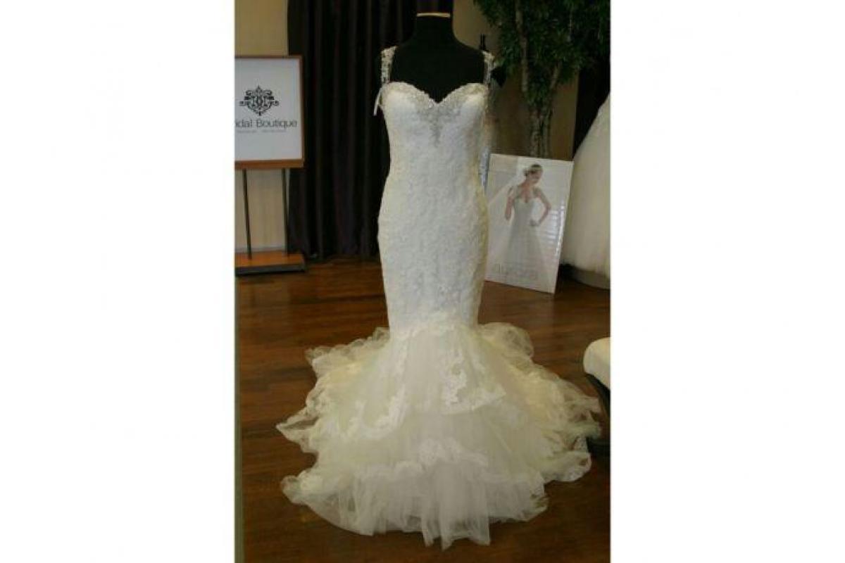 Suknia ślubna Pronovias Prusia 34 32 + welon katedralny