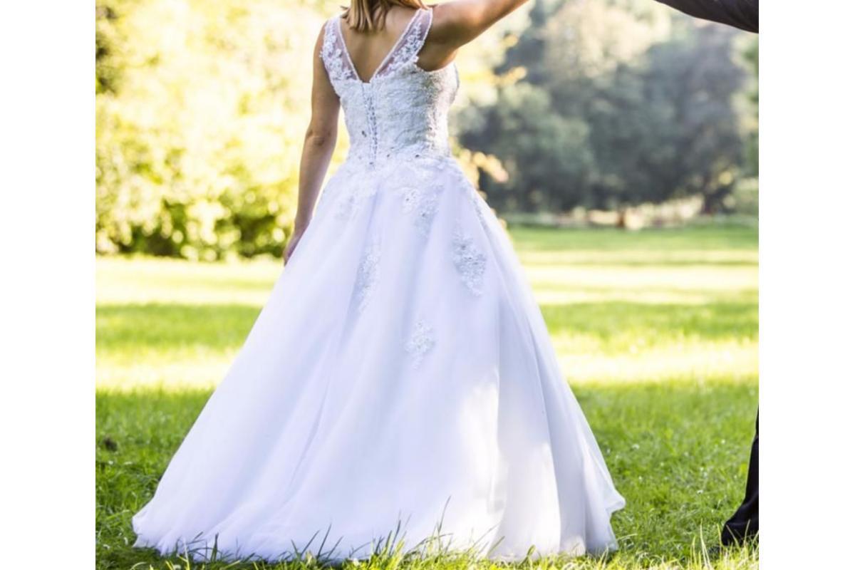 Oryginalna suknia ślubna Visual Chris Rossa 581! Princessa