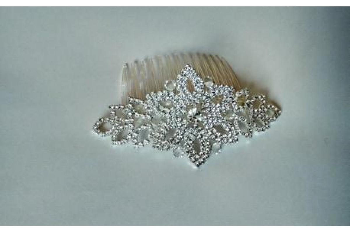 Ozdoba do włosów- srebrny grzebyk