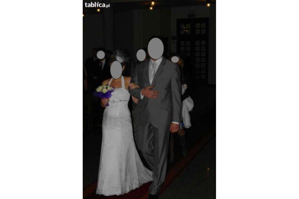 Suknia ślubna z koronką (również na ciążę)