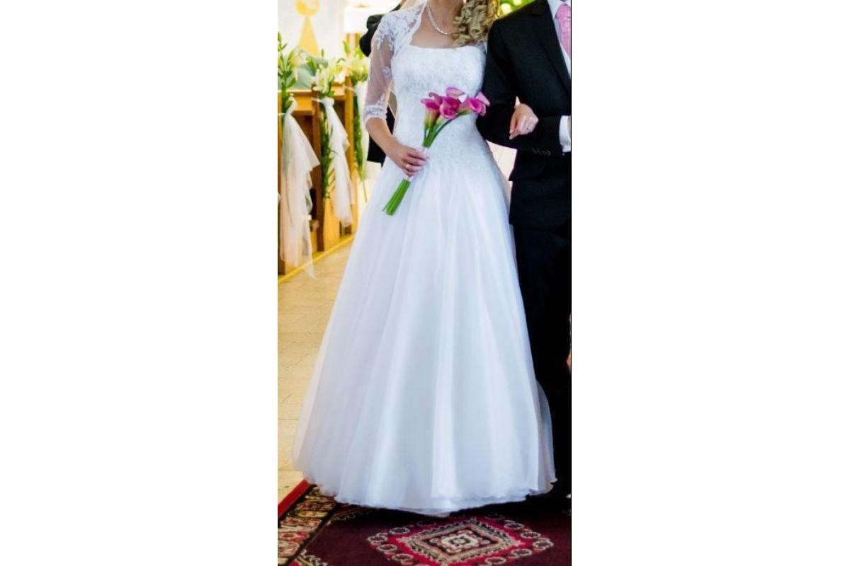 Suknia ślubna 36 organdyna
