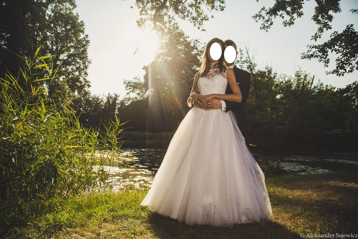 PIĘKNA suknia ślubna (z kryształkami Svarowskiego) WROCŁAW! + Gratisy