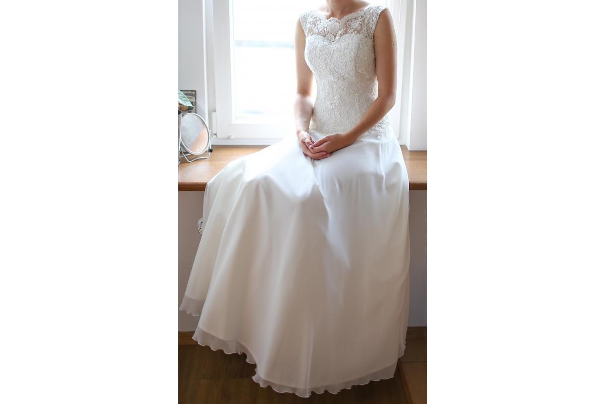 suknia ślubna (koronka + muślin)