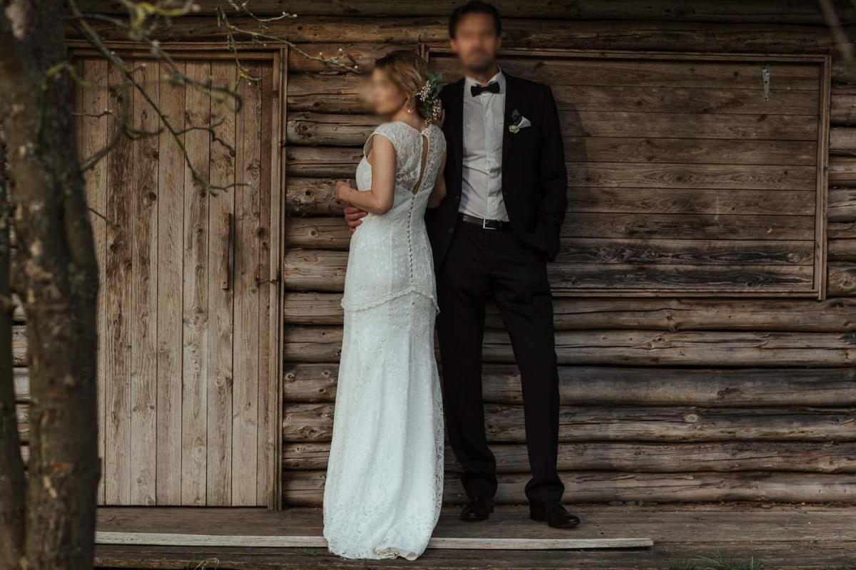 VINTAGE BOHO Koronkowa suknia ślubna (czytaj całość na https://www.planowaniewesela.pl/komis-slubny/