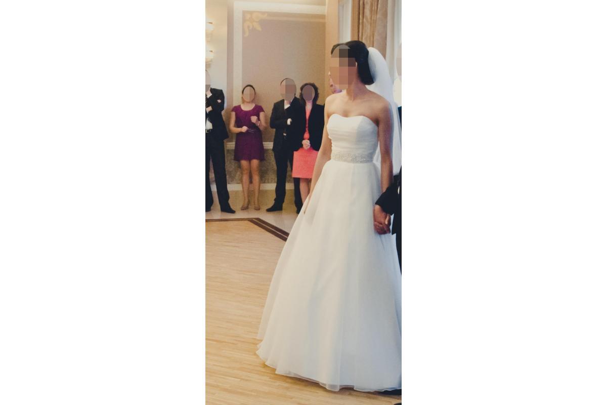 piękna suknia ślubna, rozm. 34