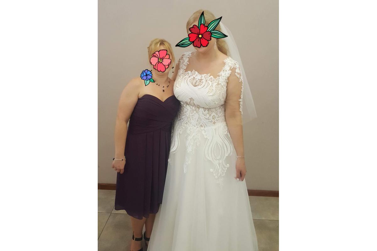 Piękna suknia ślubna MS MODA kolekcja ZENA 2018