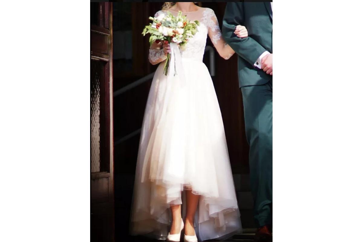 Suknia śubna AMY LOVE, kolor nude 36