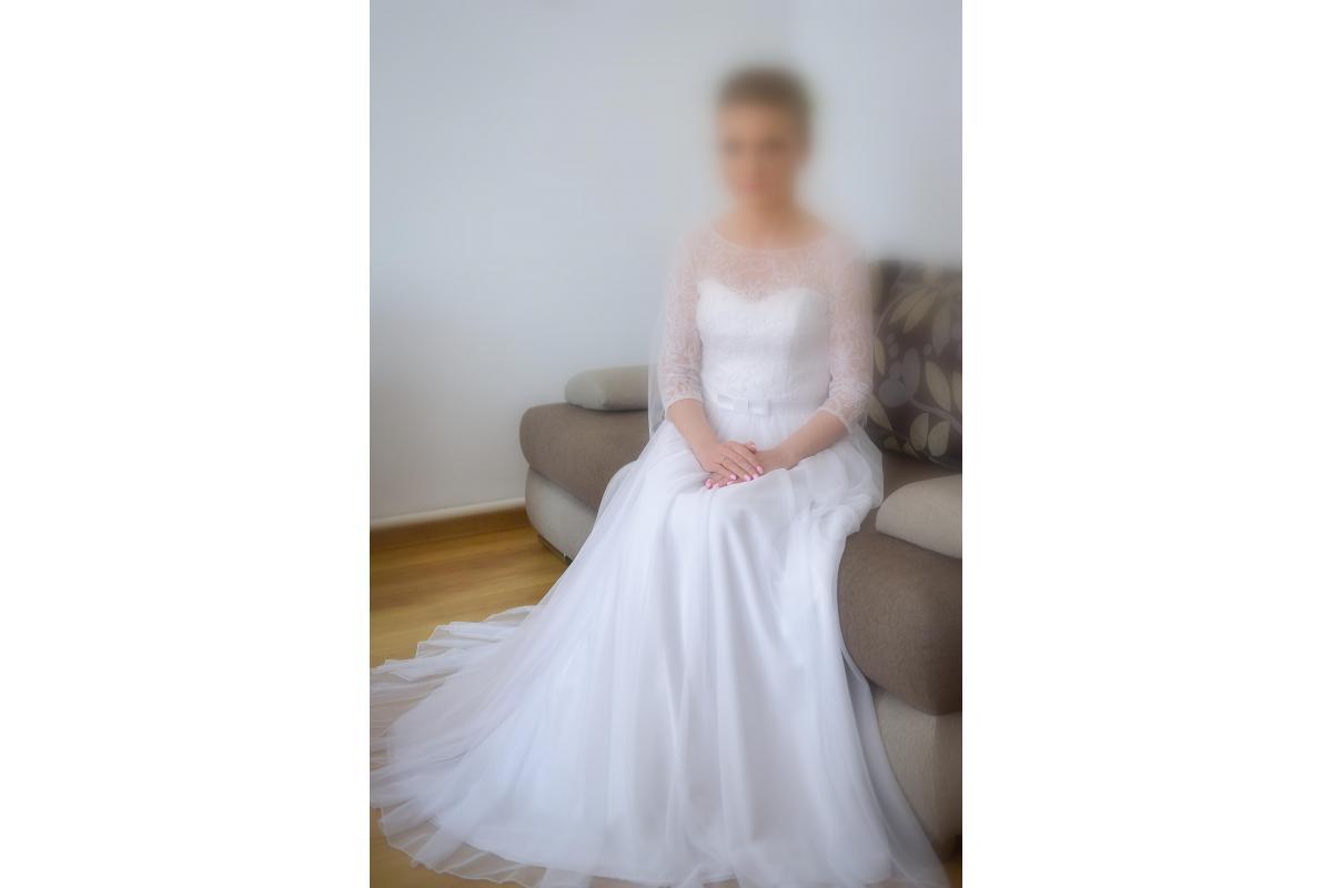 Biała suknia ślubna - stan bardzo dobry