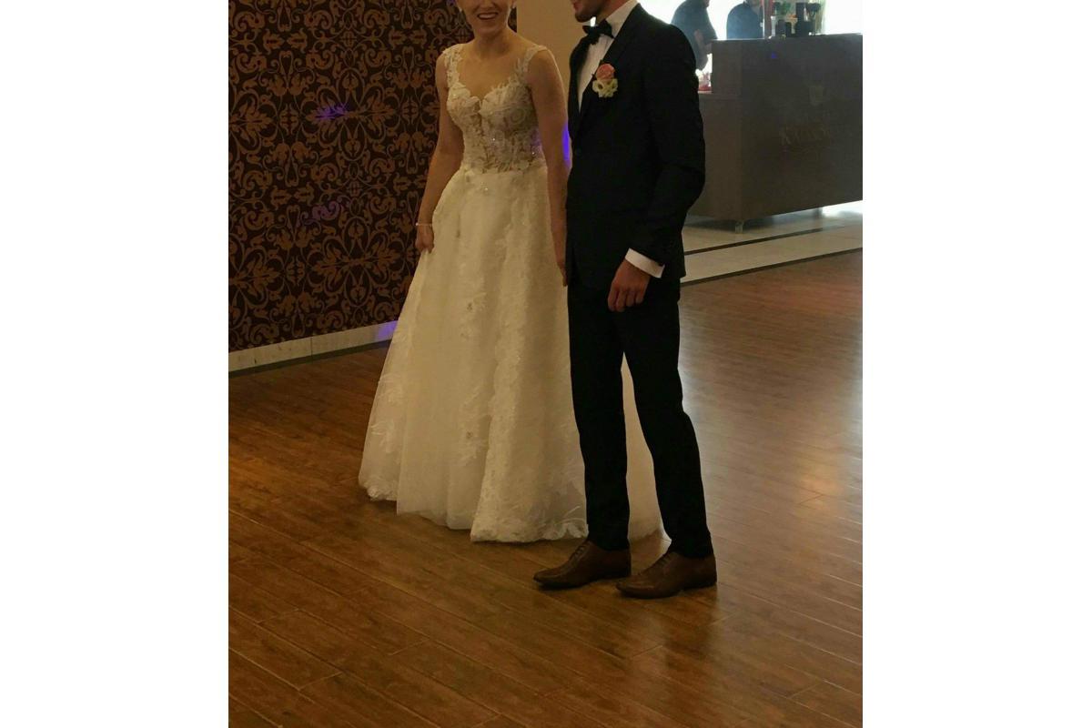 Suknia ślubna 2w1, roz. 36