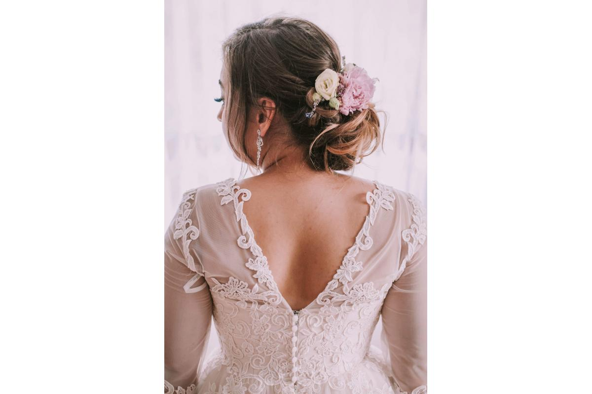 Suknia ślubna pudrowa