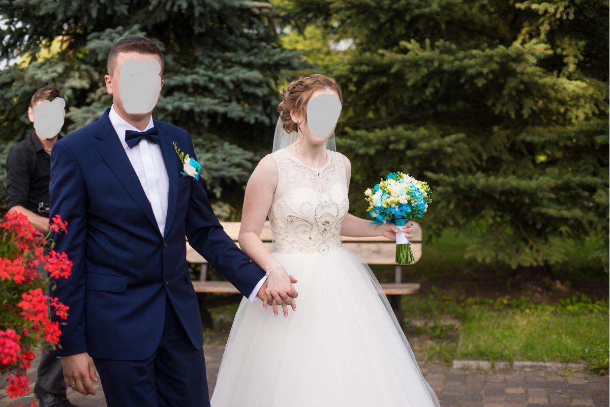 Piękna i subtelna suknia ślubna