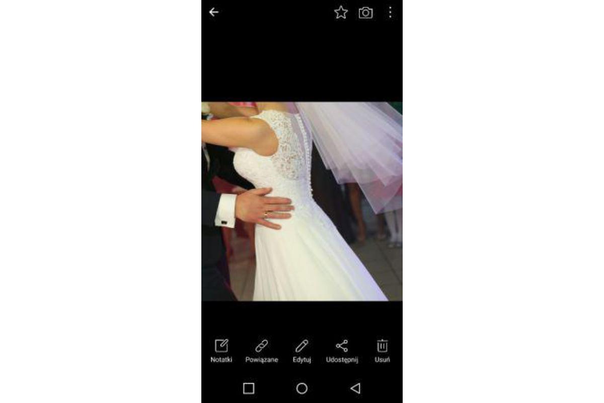 Suknia ślubna muślin koło